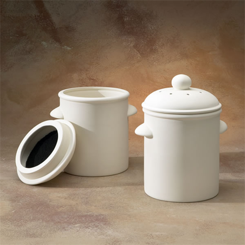 gare bisque composite canister ceramic arts