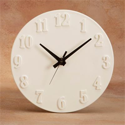 WALL CLOCK W/2-SIDED HANDS/6 SPO