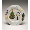 SEASONAL SNOWMAN COOKIE PLATE/6 SPO