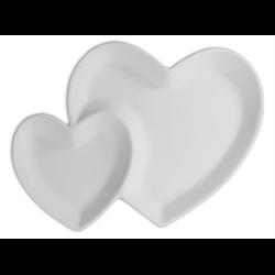 KITCHEN Double Heart Dish/6 SPO