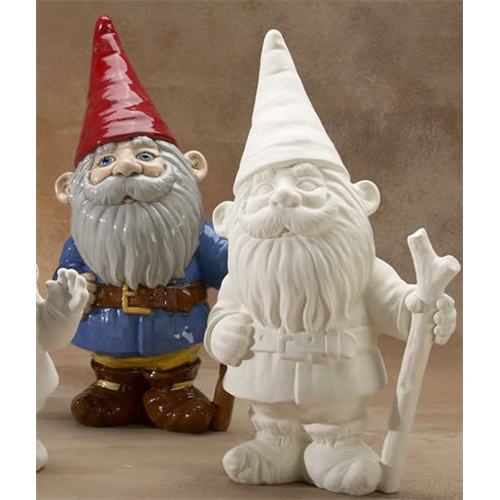 Gnome In Garden: GARE BISQUE GNOME LARGE