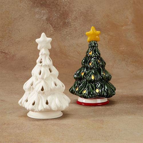 GARE BISQUE CHRISTMAS TREE VOTIVE | Ceramic Arts